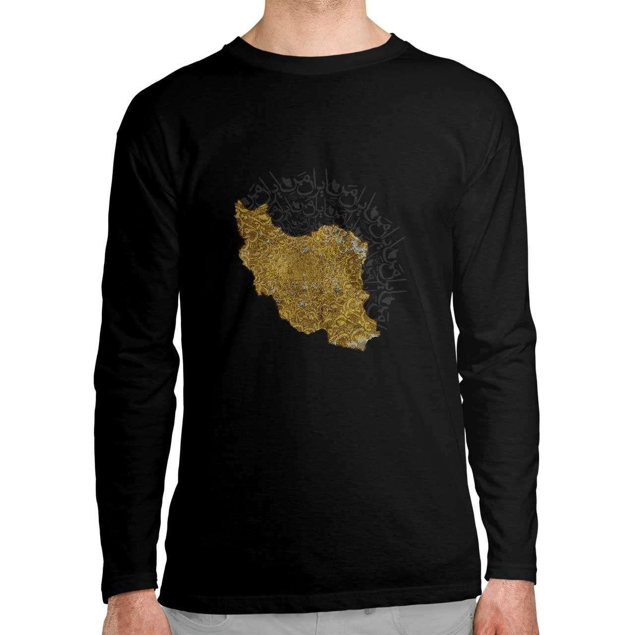 تی شرت آستین بلند طرح ایران من