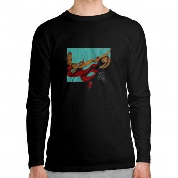 تی شرت آستین بلند طرح ز...