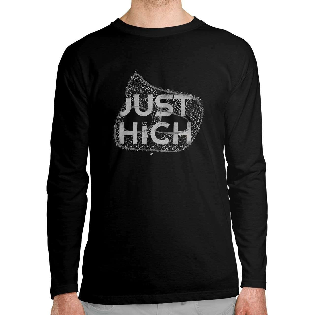 تی شرت آستین بلند طرح Just Hich - هیچ...
