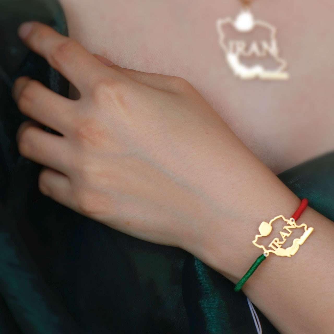 دستبند طلا و نقره طرح ایران IRAN