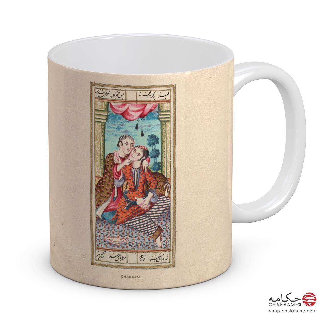 لیوان با طرح کتاب خطی سعدی - کد 9